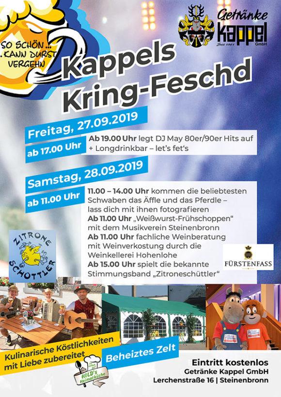 Getränke Kappel - Kring-Feschd 2019