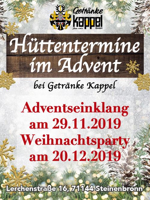 Getränkemarkt - Hüttentermine im Advent