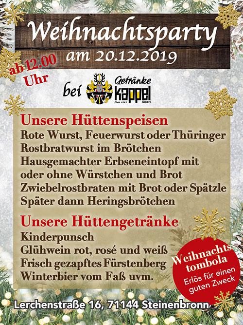 Getränkemarkt - Weihnachtsparty